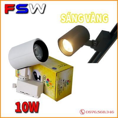 Đèn ray rọi FSW 10W chip COB| ánh sáng vàng