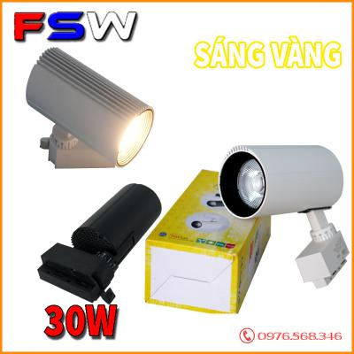 Đèn rọi ray FSW 30W giá kho| ánh sáng vàng
