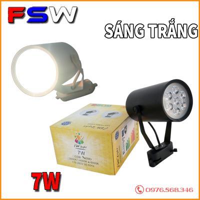 Đèn rọi ray FSW 7W ánh sáng vàng| cao cấp