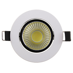 Dimmable 6W 9W 12W 15W COB LED Downlight Kit Fixture Recessed Ceiling Light Bulb Cool White (Intl)