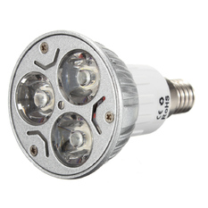E14 High Power 3x1=3W LED Pure White Down Spot Light Lamp Bulb 85-240V (Intl)