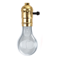 Edison E26/E27 Screw Bulb Gold With Switch (Intl)