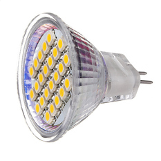 MR11 24 LED 3528 SMDEnergy Saving Spotlight Spot Light Lamp Bulb 12V Warm White (Intl)
