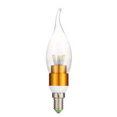 WarmWhite LED lighting 3W wax tail tip global E14 screw Gold (Intl)