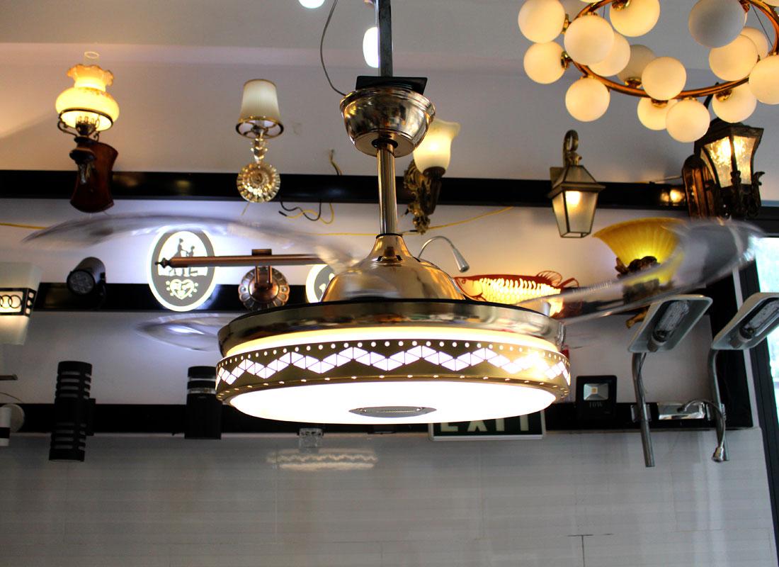 Đèn Quạt Trần Blutooth-DJ002