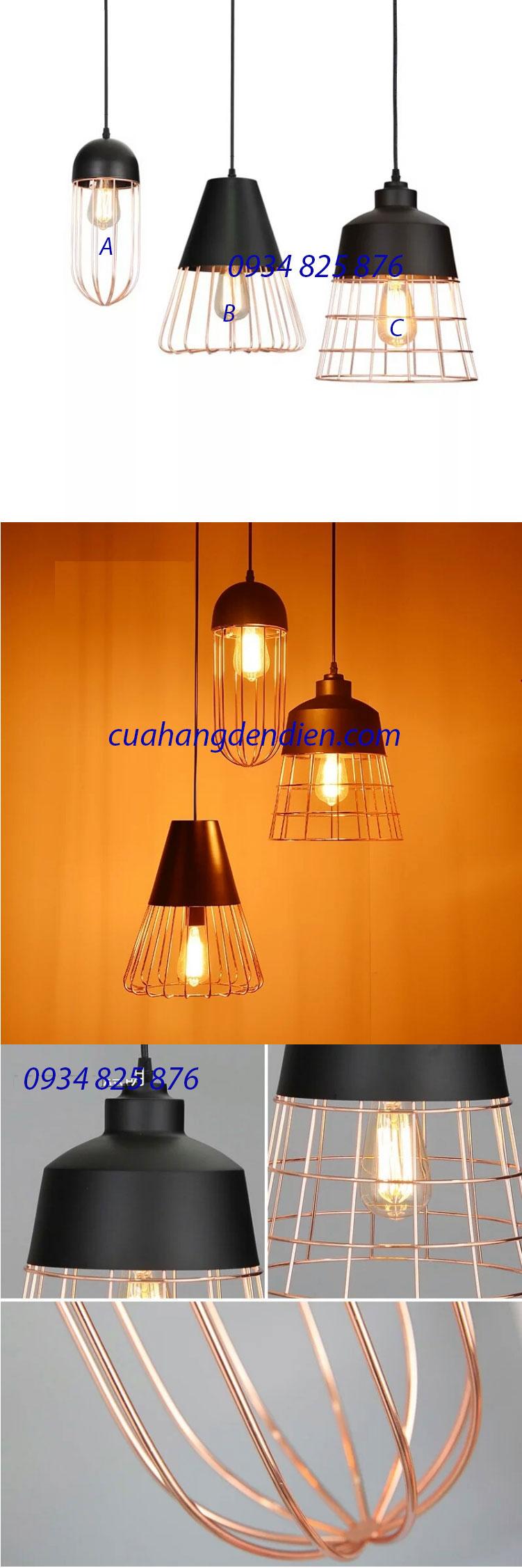 Đèn Thả Khung Sắt Trang Trí -LT078A