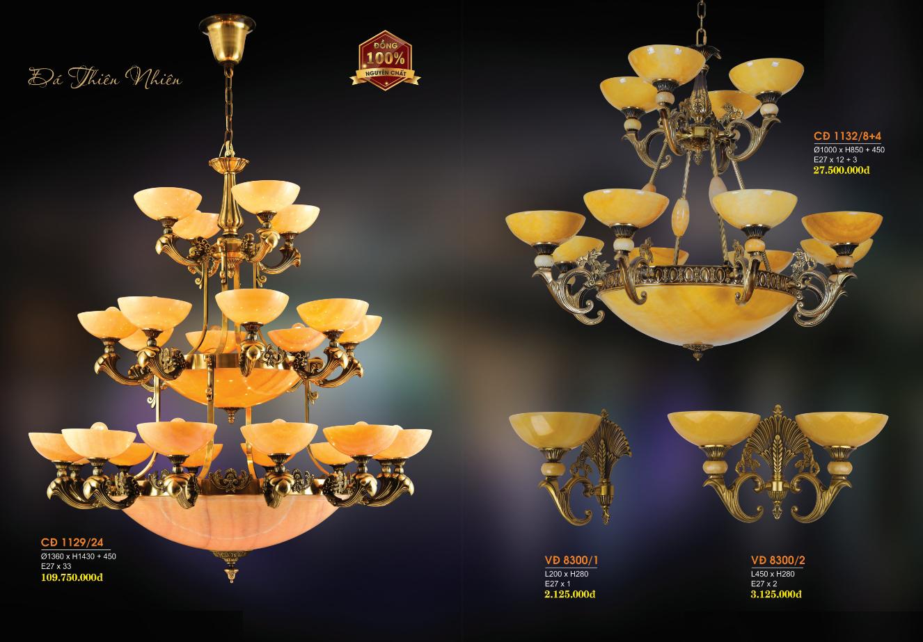 Đèn Chùm Đồng Đá HF1129-24