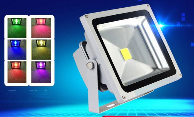 Đèn pha led 7 màu HUFA  30W