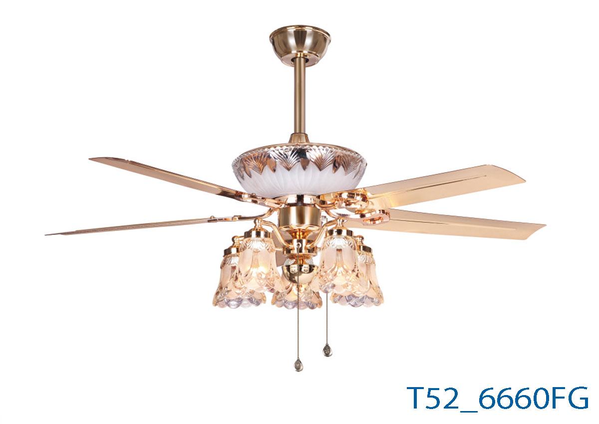 Đèn Quạt Trần Cánh Thẳng -TH6660